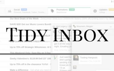 Tips & Tricks for Keeping a Tidy Inbox