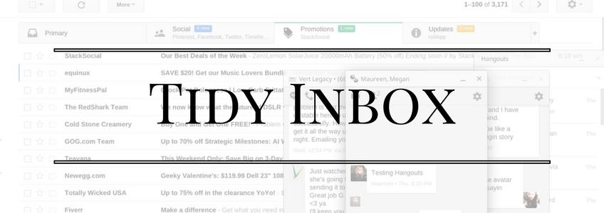 tidy inbox