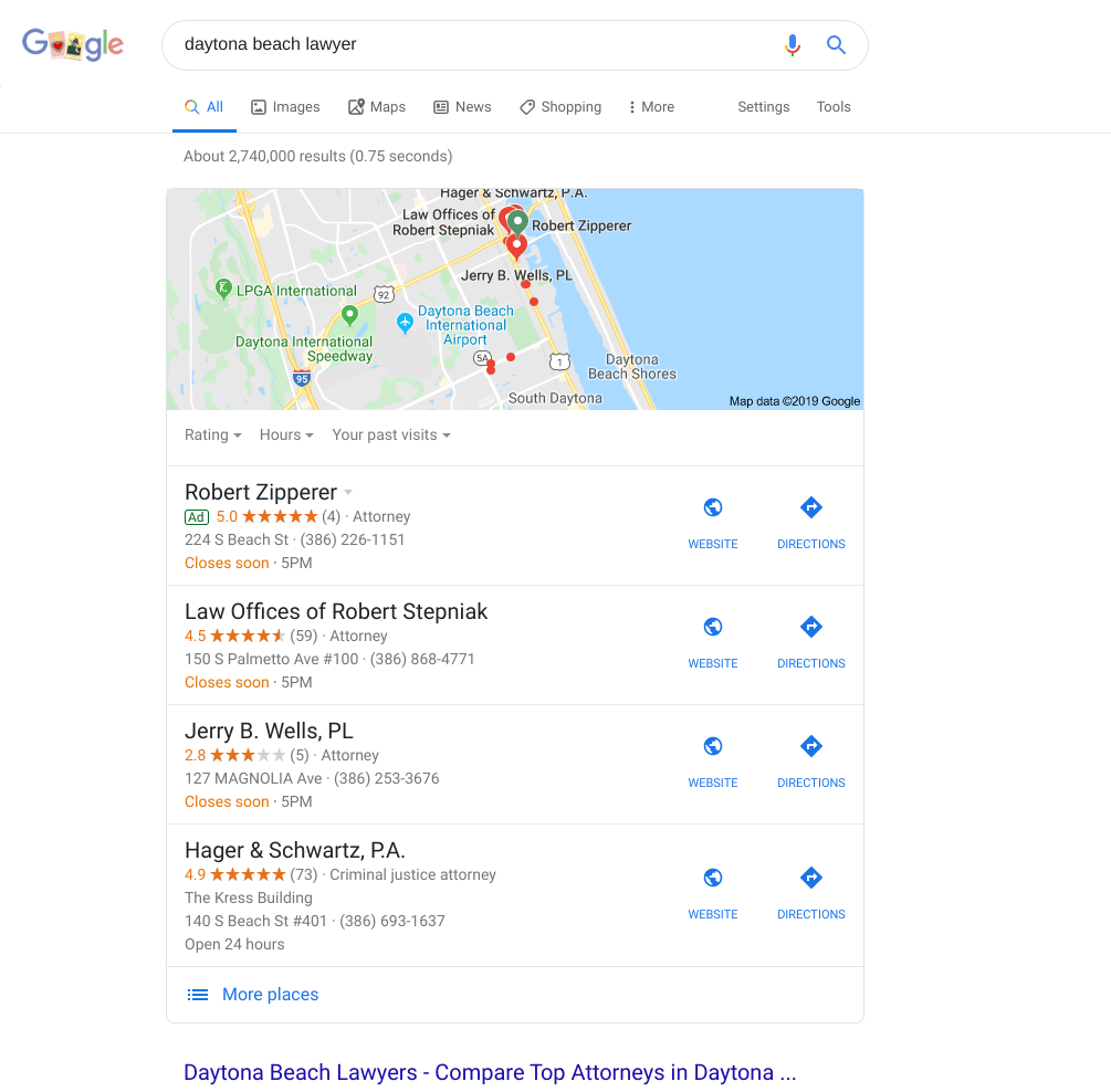 seo for small business: google my business snippet