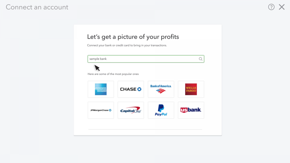 how to link credit card accounts on QuickBooks Online
