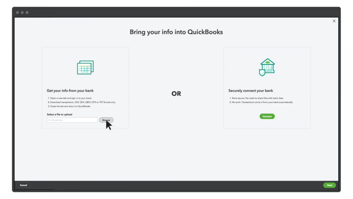 how to import credit card transactions on QuickBooks Online