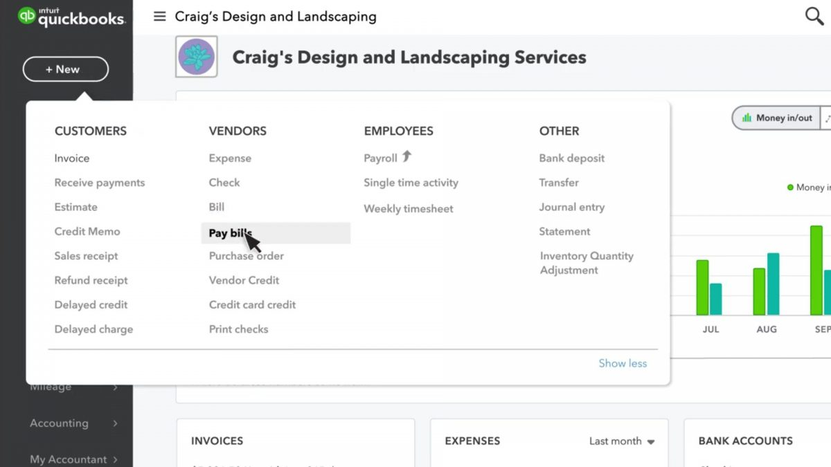 how to send a paper check in QuickBooks Online