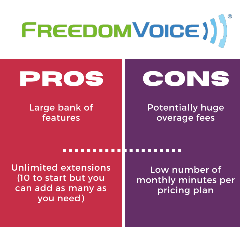 freedomvoice pros and cons