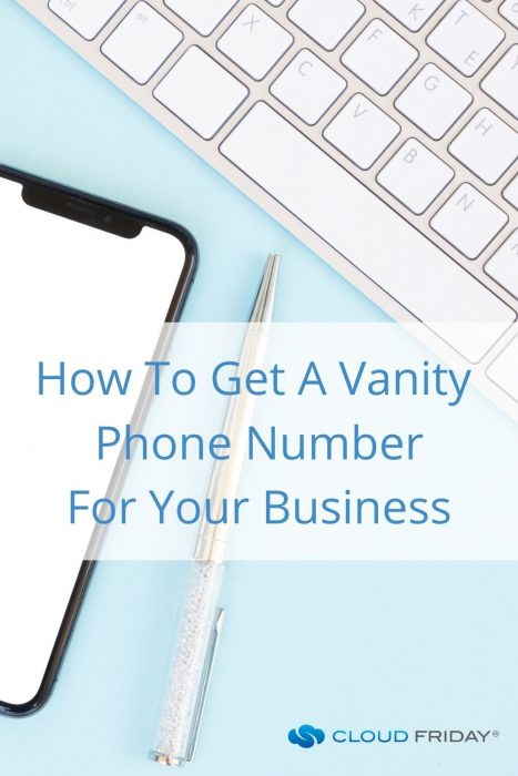 how to get a vanity phone number