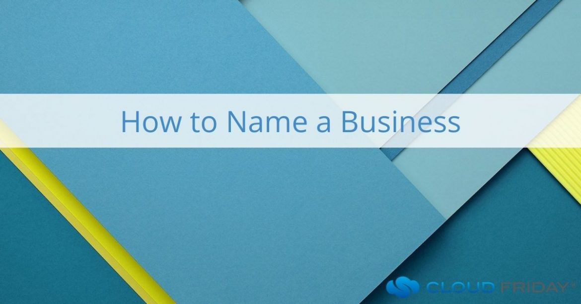 how to name a business