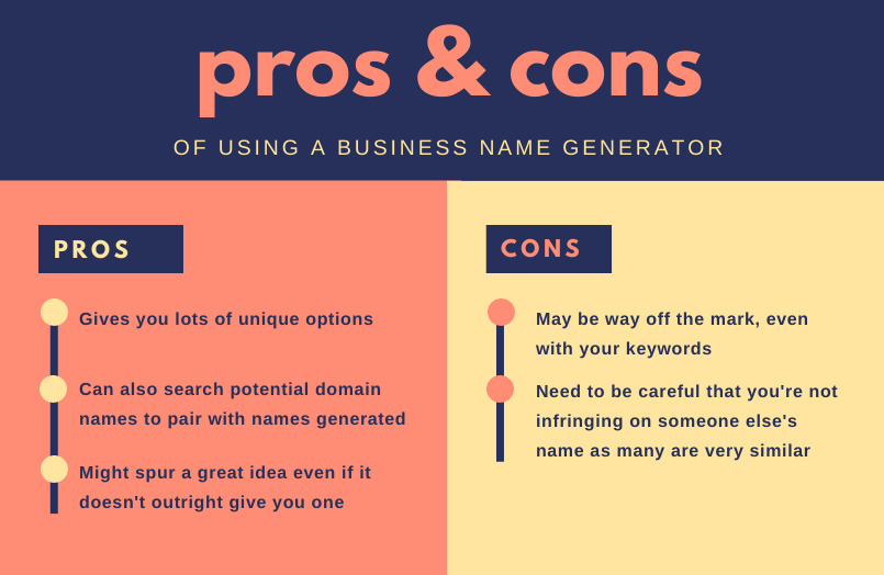 name generator pros and cons