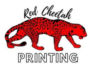 red cheetah printing